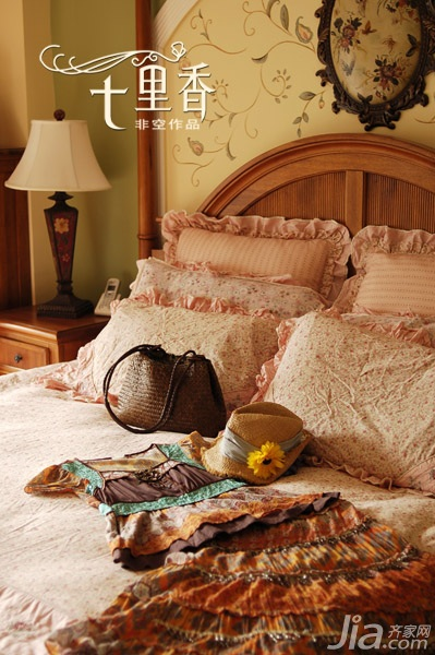 非空新古典风格复式20万以上140平米以上卧室床效果图