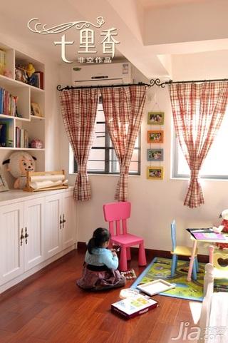 非空新古典风格复式20万以上140平米以上卧室照片墙书架效果图