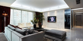 混搭风格富裕型130平米客厅吊顶婚房家装图