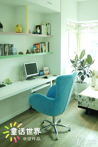非空混搭风格公寓富裕型130平米书房书桌图片