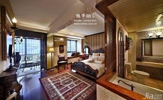 鬼手帕新古典风格小户型豪华型90平米卧室床效果图