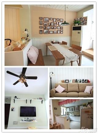 日式风格二居室10-15万90平米婚房家装图片