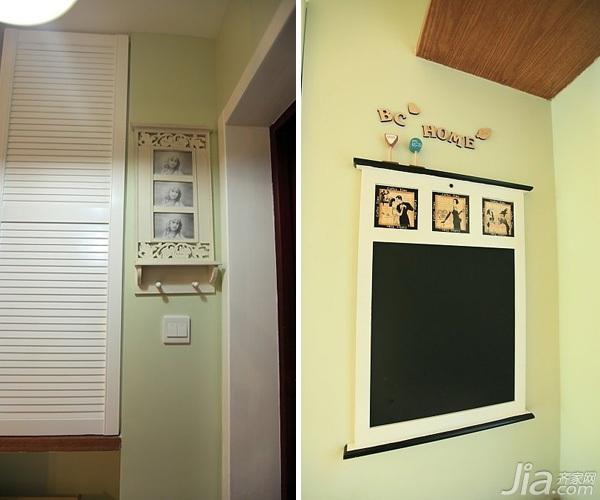 日式风格二居室10-15万90平米玄关婚房家装图片