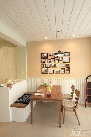日式风格二居室10-15万90平米餐厅吊顶婚房家装图片