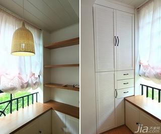 日式风格二居室10-15万90平米阳台婚房家装图片