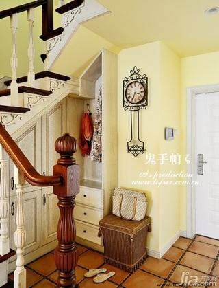 鬼手帕欧式风格别墅豪华型140平米以上门厅楼梯鞋柜图片