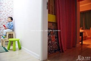 宜家风格二居室经济型90平米过道装修效果图