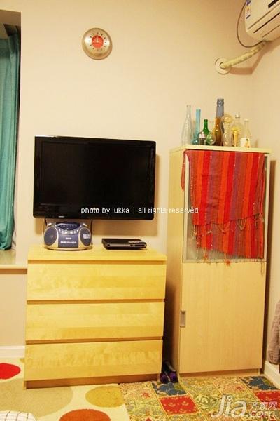 宜家风格二居室经济型90平米效果图