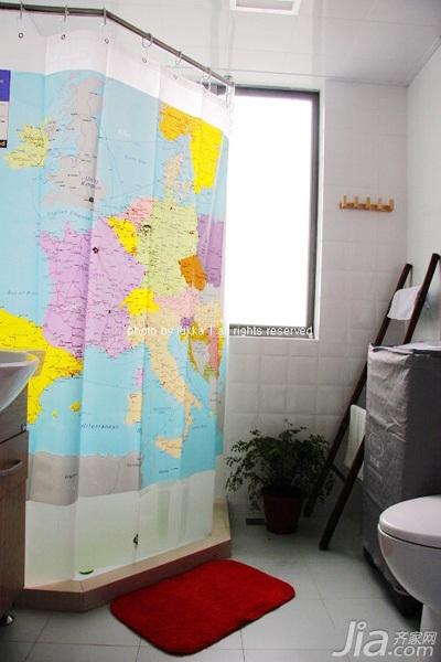 格二居室经济型90平米卫生间装修效果图高清图片
