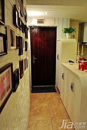 混搭风格小户型富裕型50平米玄关背景墙玄关柜婚房家装图