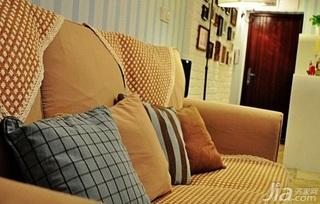 混搭风格小户型富裕型50平米客厅婚房家装图片