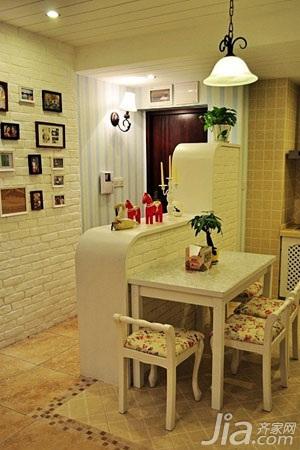 混搭风格小户型富裕型50平米餐厅隔断餐桌婚房家装图