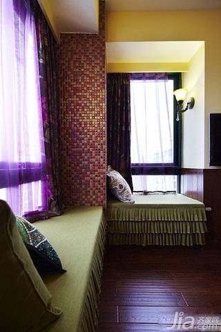 美式乡村风格二居室富裕型90平米卧室飘窗装修效果图
