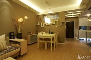 简约风格二居室富裕型70平米餐厅吊顶餐桌图片