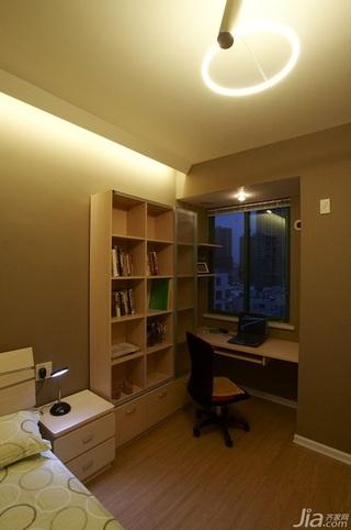 简约风格二居室富裕型70平米卧室书桌效果图