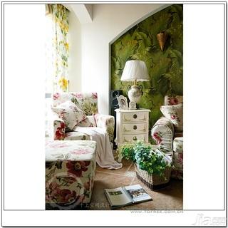 十上田园风格小户型经济型80平米客厅沙发婚房家装图