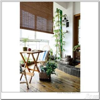 十上田园风格小户型经济型80平米阳台婚房家装图