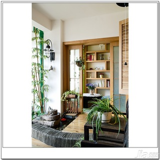 十上田园风格小户型经济型80平米阳台婚房家装图片