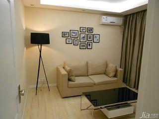 宜家风格一居室经济型60平米客厅沙发背景墙沙发效果图