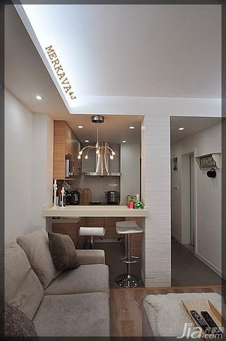 简约风格小户型经济型40平米客厅吧台吧台椅效果图