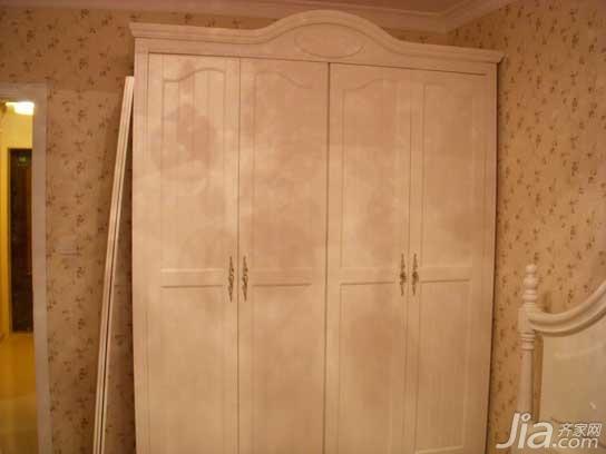 田园风格小户型经济型50平米卧室卧室背景墙衣柜婚房家居图片