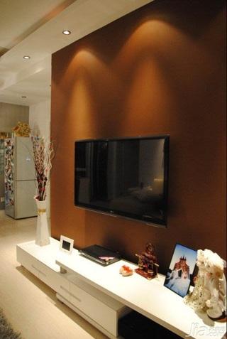 简约风格一居室经济型50平米客厅电视背景墙电视柜效果图