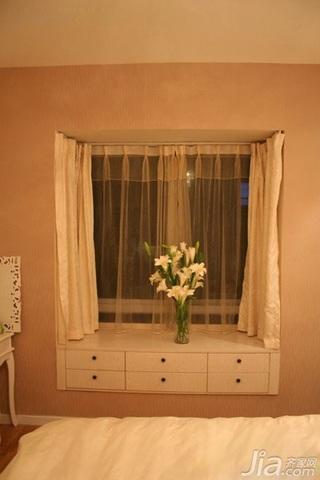 混搭风格小户型经济型60平米卧室飘窗装修图片