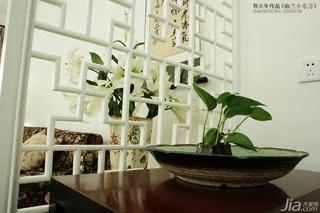 导火牛中式风格公寓经济型90平米门厅隔断装修图片