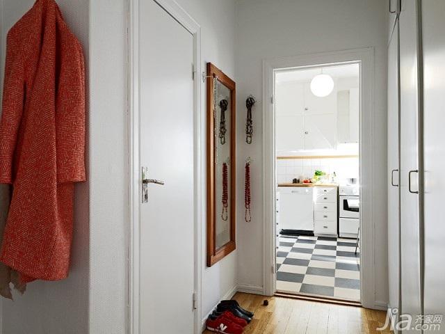 北欧风格小户型富裕型60平米玄关效果图