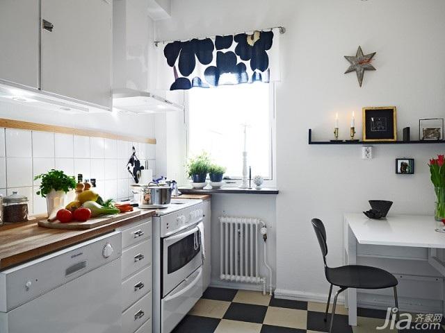 北欧风格小户型富裕型60平米厨房橱柜设计图