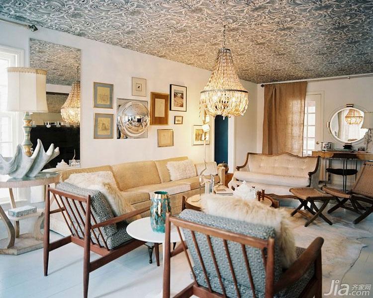 美式风格客厅吊顶沙发图片高清图片