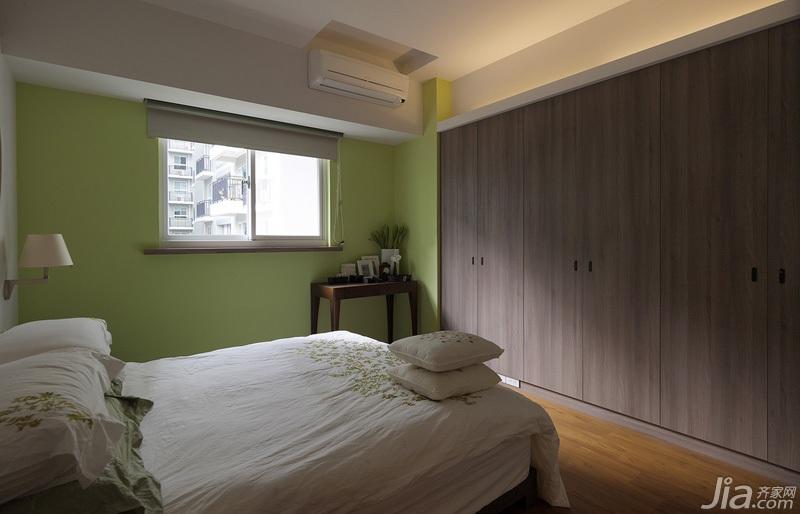 简约风格三居室绿色富裕型100平米卧室衣柜台湾家居