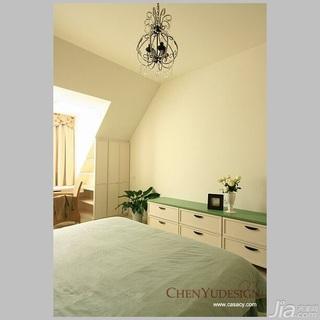 陈禹混搭风格复式经济型120平米卧室床效果图