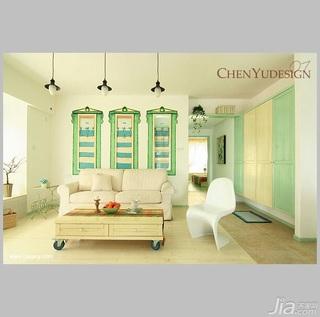 陈禹混搭风格公寓经济型100平米客厅沙发效果图