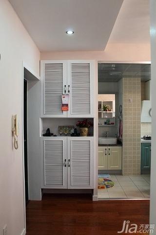混搭风格小户型经济型40平米门厅鞋柜效果图