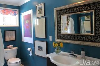 美式乡村风格三居室富裕型120平米卫生间改造