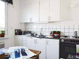 北欧风格一居室白色经济型40平米厨房橱柜安装图