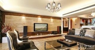 富裕型客厅电视背景墙灯具图片
