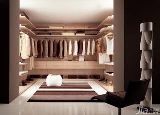 富裕型衣帽间衣柜效果图