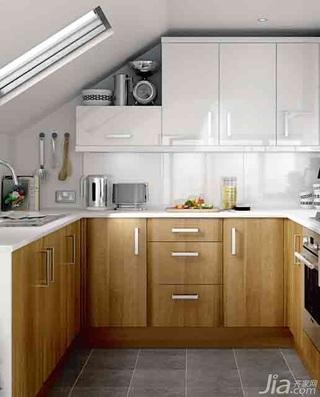 简约风格富裕型厨房橱柜安装图