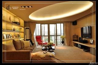 混搭风格公寓浪漫经济型130平米客厅吊顶沙发婚房家装图片