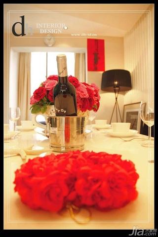 混搭风格公寓浪漫经济型130平米餐厅餐桌婚房家装图片