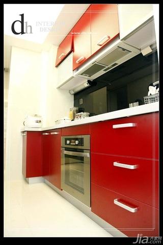 混搭风格公寓经济型130平米厨房橱柜婚房家装图片