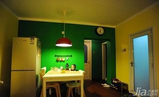 宜家风格小户型绿色10-15万50平米餐厅餐厅背景墙灯具效果图