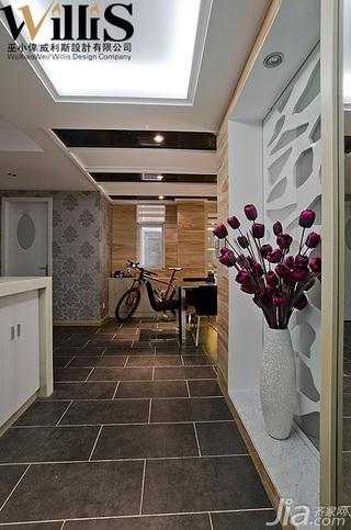 巫小伟混搭风格复式富裕型140平米以上门厅隔断餐桌效果图