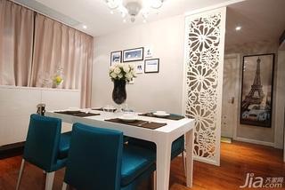 简约风格二居室富裕型80平米餐厅隔断餐桌效果图