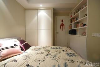 简约风格二居室富裕型80平米卧室衣柜设计图纸