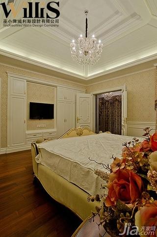 巫小伟欧式风格别墅奢华豪华型140平米以上卧室床效果图