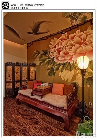 巫小伟混搭风格别墅唯美富裕型140平米以上书房隔断沙发效果图