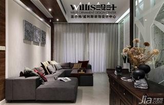 巫小伟中式风格跃层大气富裕型140平米以上客厅吊顶沙发效果图